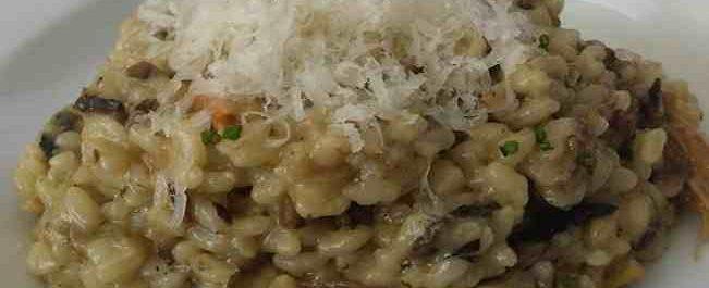 risotto con setas