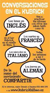 quedadas de idiomas en el kubrick bilbao