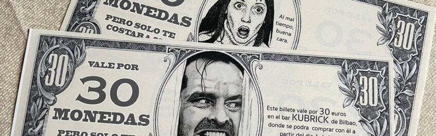 bono 30 monedas KUBRICK BAR BILBAO